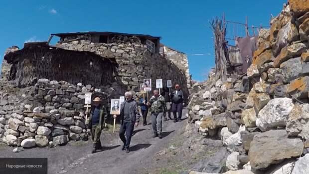 """На высоте более 2000 метров: в Осетии прошел самый высокогорный в России """"Бессмертный полк"""""""