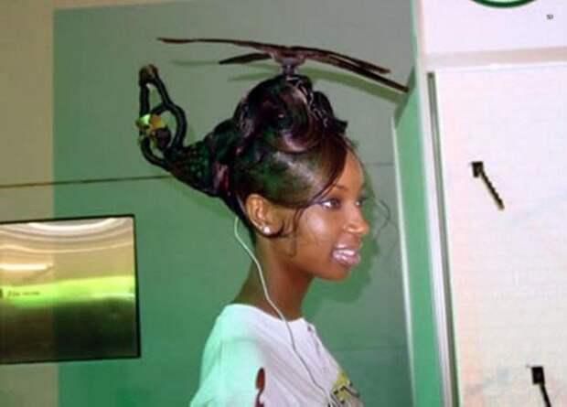 Вертолет из волос.