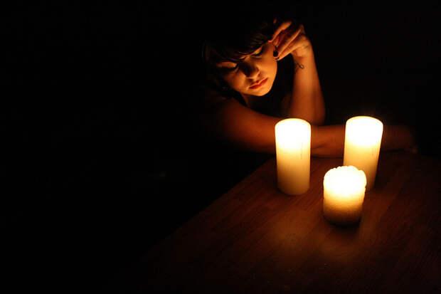 Фотосессия со свечами