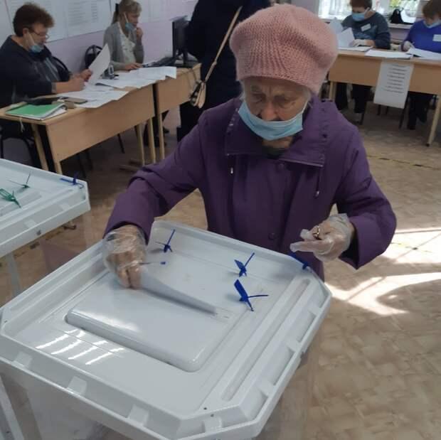 88-летняя жительница Тверской области отдала свой голос на выборах