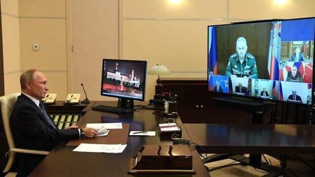 Владимир Путин провёл совещание ороссийской миротворческой миссии вКарабахе