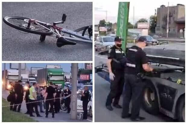 Пьяный пешеход толкнул под грузовик 27-летнего врача: появилось видео с моментом гибели