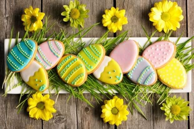 печенье в форме яйца
