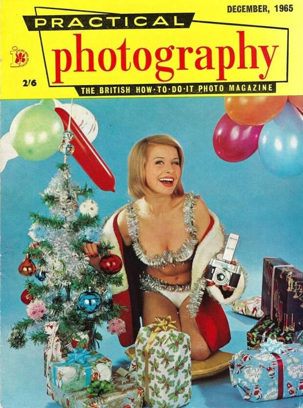 Винтажные рождественские обложки мужских журналов с 1940-1990-е годы
