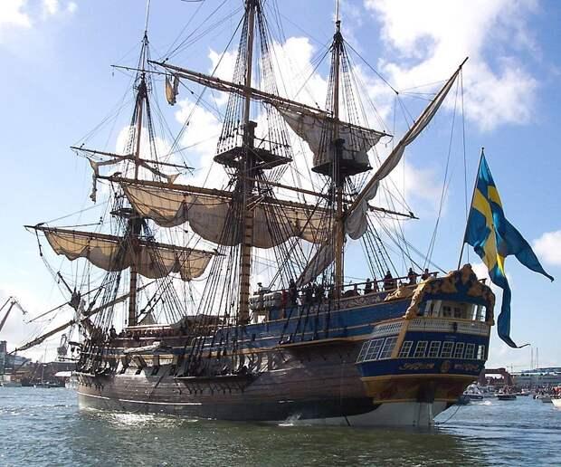 Реплика шведского корабля XVII века, хранящаяся в Гётеборге - Катастрофа датского флота | Warspot.ru