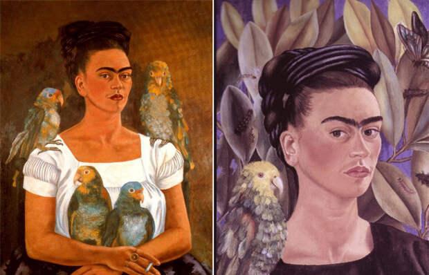 Фрида Кало «Я и мои попугаи»