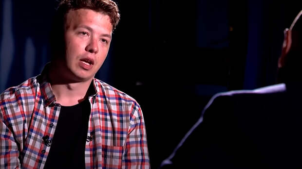 Скриншот кадра интервью Р. Протасевича телеканалу ОНТ / youtube.com