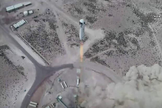 Компания Blue Origin провела успешный запуск ракеты New Shepard