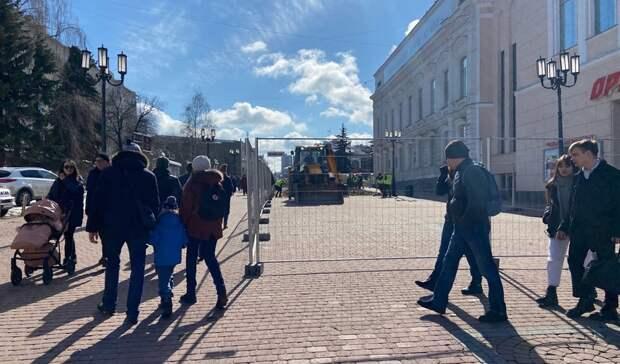ВНижнем Новгороде разработали семь схем ограничения движения при благоустройстве