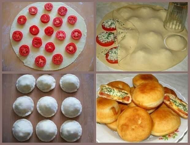 """Пирожки """"бомбочки"""" с помидорами и брынзой"""
