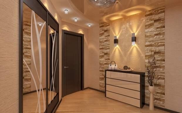 Рассеянный свет является наилучшим вариантом для прихожей. \ Фото: yandex.com.