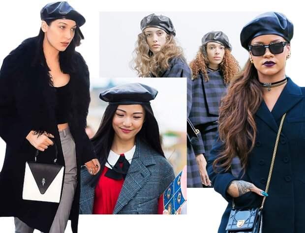 Амазонки в стиле 90-х: кожаные береты снова в моде