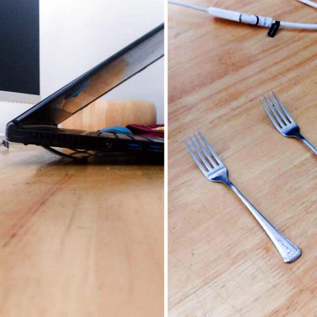 Подставка для ноутбука. | Фото: Ta Obvio.