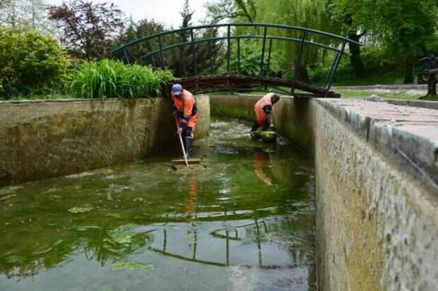 Пруды в Екатерининском саду в Симферополе наполнят чистой водой
