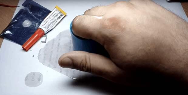 Простейшая техника удаления супер-клея с кожи рук