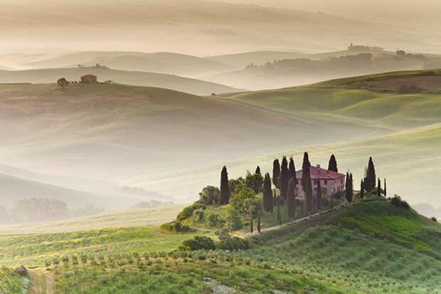 Утро в Тоскане, Италия