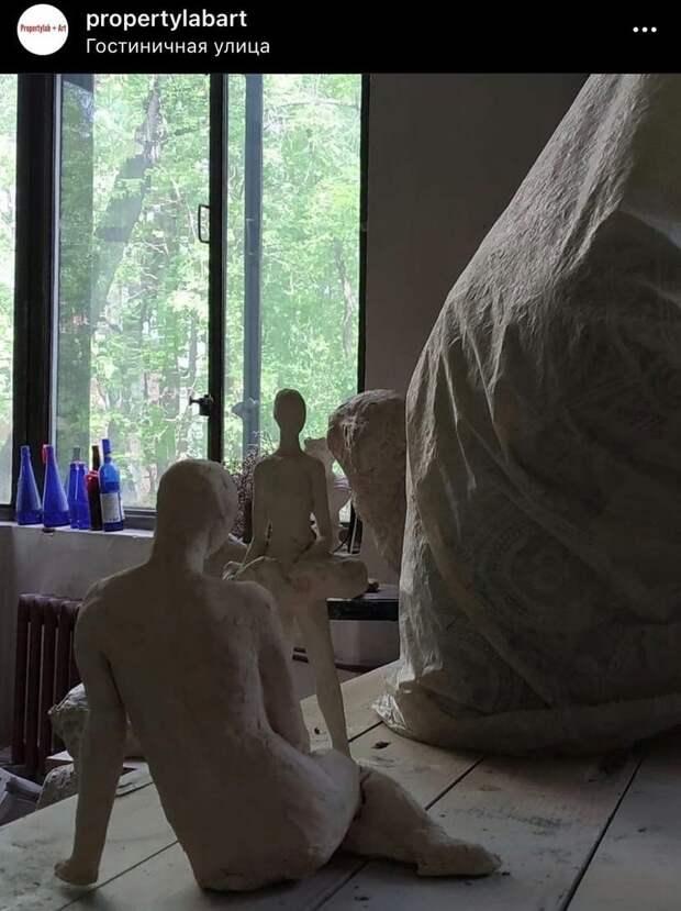 Фото дня: мастерская скульптора на Гостиничной