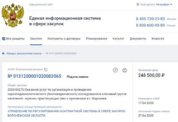 В Воронеже передумали исследовать геев из-за шумихи в СМИ