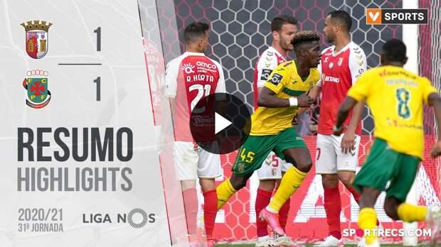 Highlights: SC Braga 1-1 Paços de Ferreira (Liga 20/21 #31)