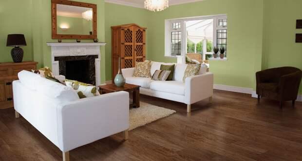 как выбрать линолеум в квартиру дизайн гостиной с салатовыми стенами
