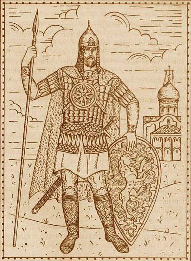 Защитное вооружение воина в период средневековья.