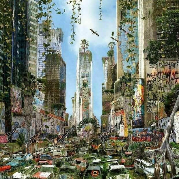 20 работ художника, который представляет, каким будет мир, если человек исчезнет
