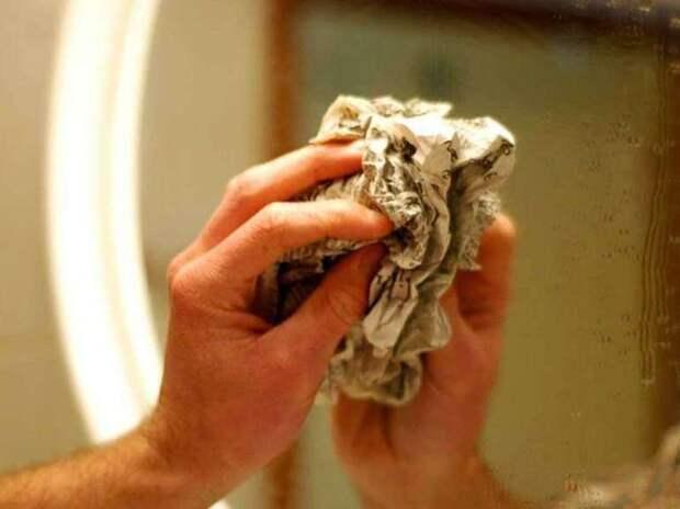 Мытье зеркал без разводов