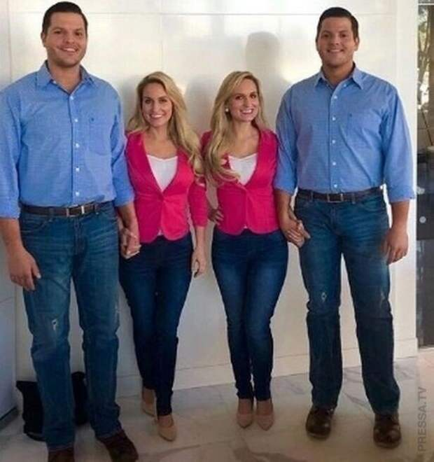 Сестры-близнецы, которые вышли за братьев-близнецов, одновременно забеременели