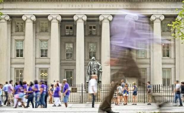 На фото: здание министерства финансов США в Вашингтоне(архивное фото).