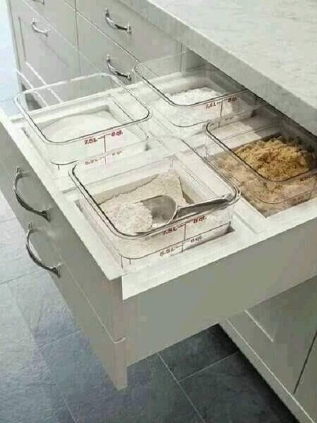 Простой и оригинальный вариант создать такой удачный ящик для хранения на кухне, что понравится однозначно.
