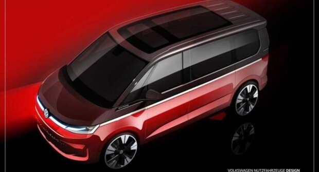 Volkswagen в исполнении Multivan T7 получит новый дизайн после перехода на платформу MQB