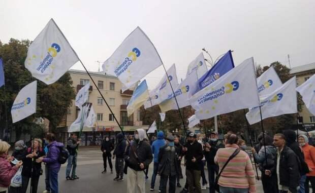 «Европейская солидарность» вКременчуге вызвала полицию визбирком
