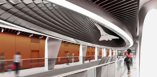 Над эскалатором станции метро «Пыхтино» будет «парить» самолет Ту-144