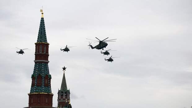 В Сети показали видео авиачасти парада Победы на Красной площади