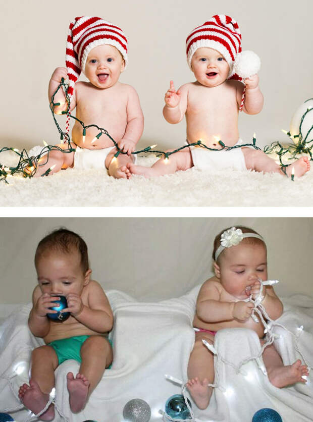 Рождественские близнецы: ожидание и... дети, фото, юмор