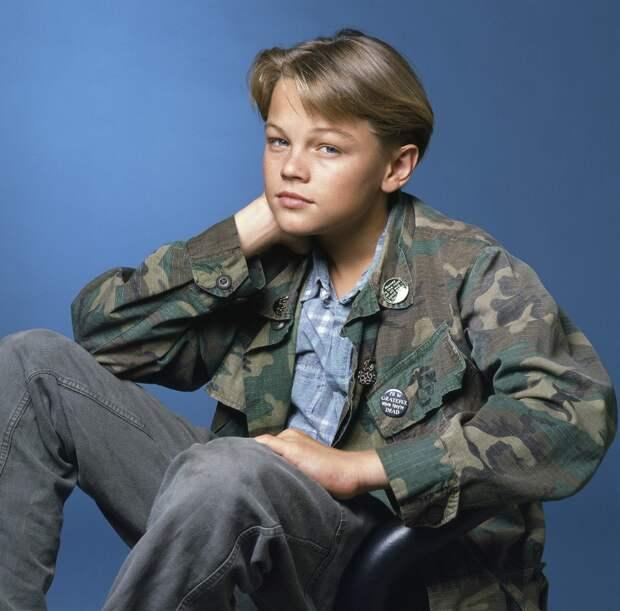 "16 летний Леонардо Ди Каприо в промо фотосессия к сериалу ""Родители"" 1990 год ."