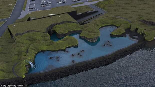 ВИсландии наполуострове Карснес строят геотермальную лагуну свидом наокеан