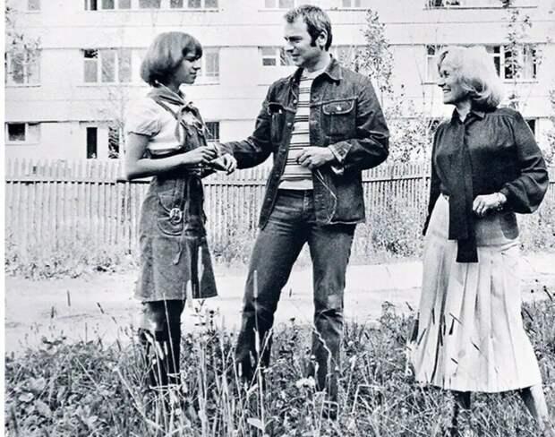 Алексей Габрилович, Майя Булгакова с дочерью Марией.