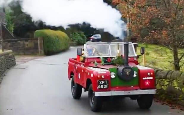Пенсионер превратил свой Land Rover в паровоз