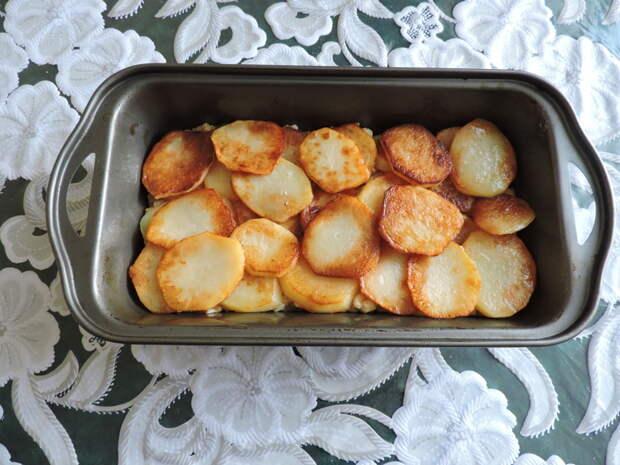Сверху рыбы положить картофельную шубку еда, сделай сам, фоничка