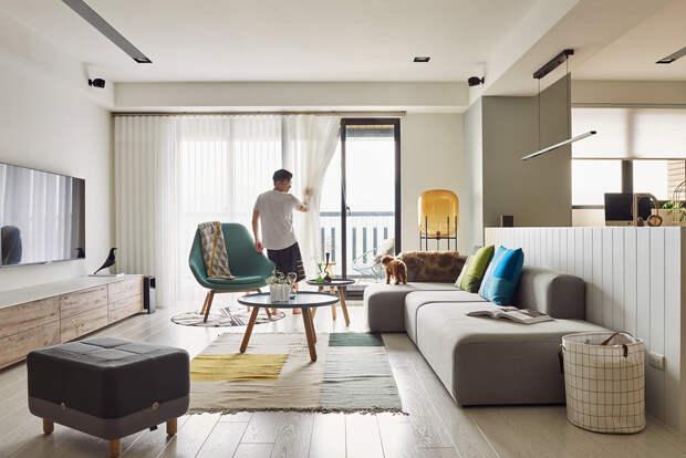 Непринуждённый дизайн интерьера маленькой квартиры