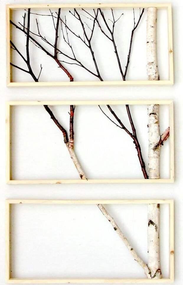декор из веток елки