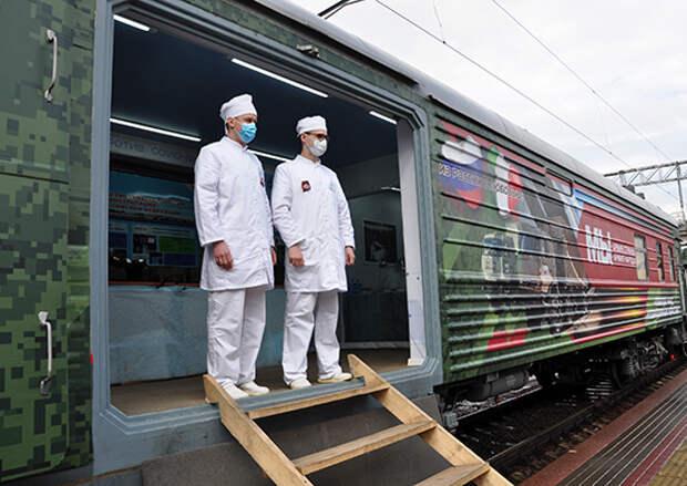 Агитационный поезд «Мы – армия страны! Мы – армия народа!» прибыл в Северную Осетию