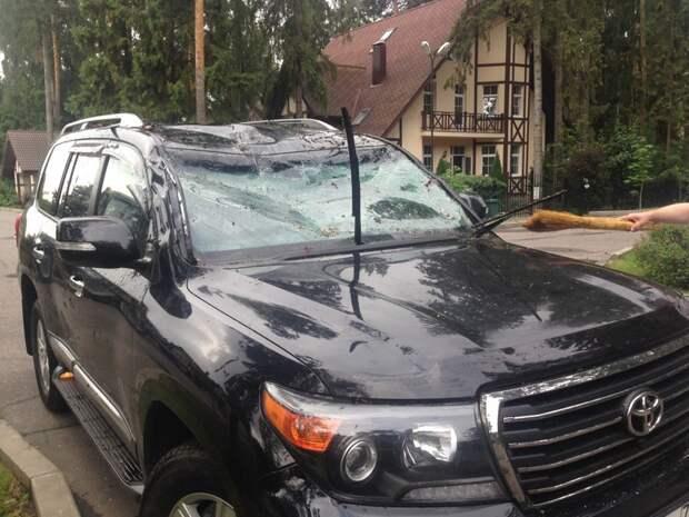 Последствия урагана в Московской области авто, дтп