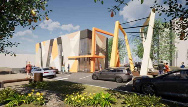 Здание кафе с панорамным остеклением появится вблизи бульвара Юности