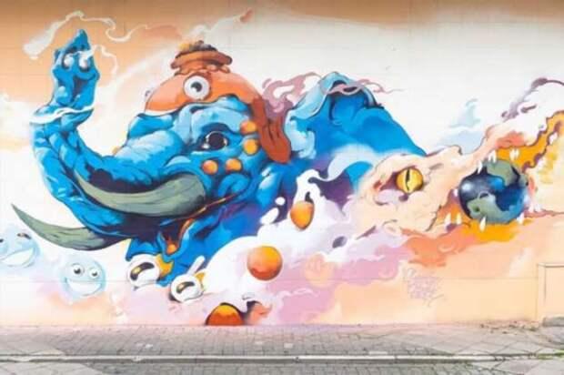 Граффити на кольцевой в Нилерландах