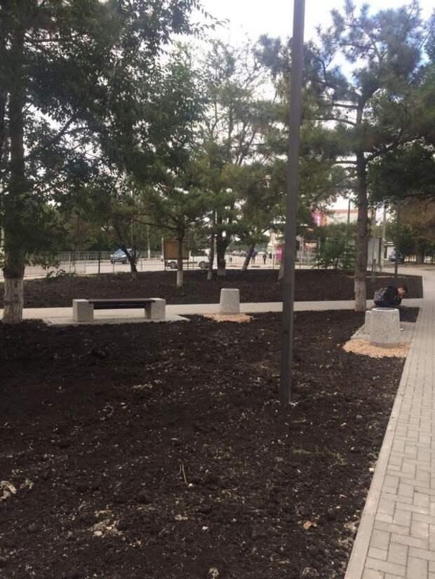 На новых городских территориях проходит подготовка основания для гидропосева