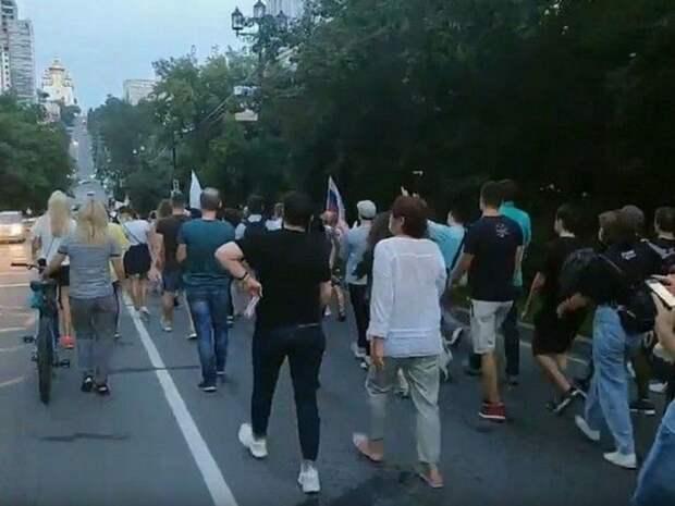 Жители Хабаровска митинговали против «политического произвола»
