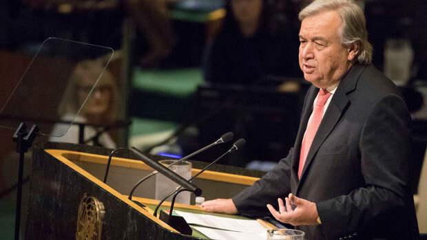 """Генсек ООН заявил о ключевой роли """"Спутника V"""" в решении мировой проблемы вакцинации"""