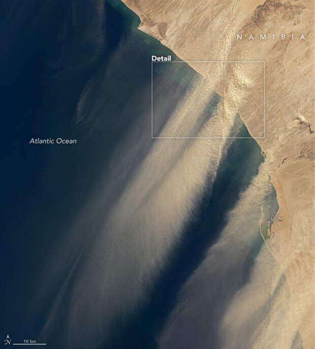 песчаная буря над Атлантикой